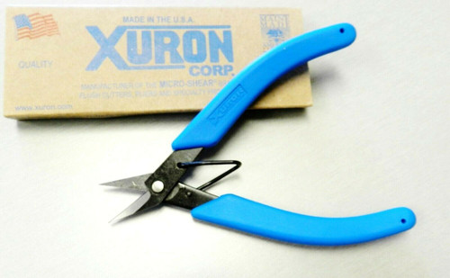 Xuron 9180 Shear Serrated For Metal And High Strength Fibers Made in USA
