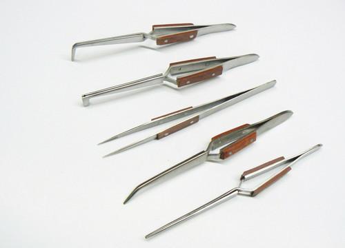Fiber Grip Tweezers, Set of 5