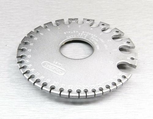 Wire Gauge AWG American Standard 0-36 Ga General Tool #20 Gauging Wire Size
