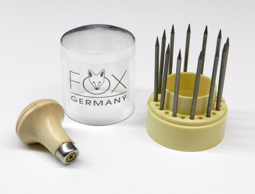 Fox Diamond Stone Setting Beading Tools, 12 PCS  Set