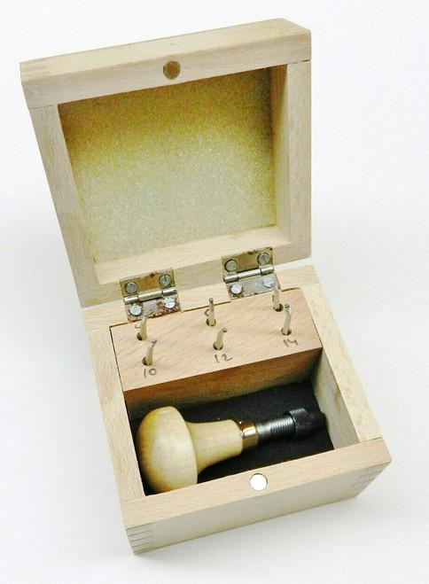 Milgrain Wheel Set of 6 Millgrain Bead Tools Handle Boxed #'s 5 7 9 11 13 15