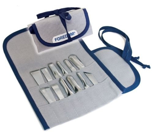 Foredom AK510 Chisel Set in Canvas Pouch 12 PCS Made in USA