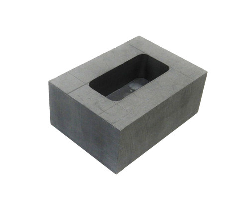 250 Gram Graphite Ingot Mold Machined Melting Kit to Pour Loaf Bar Gold and Silver