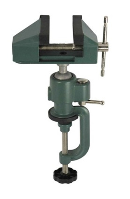 "Work Bench Vise Swivel 3"" Tabletop Clamp Vice Tilts Rotates 360° Universal Hobby"