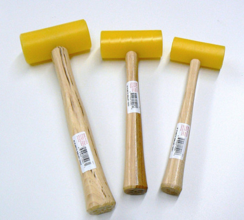 Plastic Mallets Non Marring Garland USA Set-3 Sizes Leather Craft Jewelry Hammer
