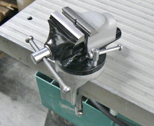 """Mini Vise Bench Swivel with Clamp For Workbench 2"""" Smooth Jaws Revolving Vise"""