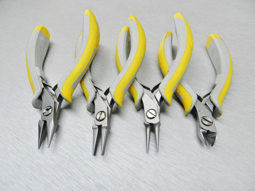 Lindstrom EX Pliers Kit Chain Nose 7893 Flat Nose 7490 Round Nose 7590 Cutter 8141 Set of 4