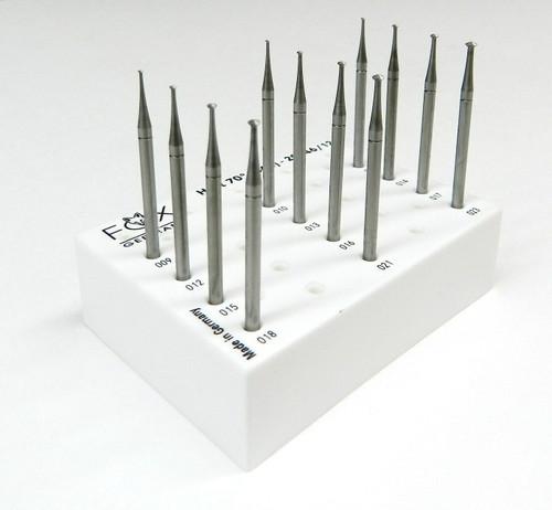 Hart 70º Burs Set 0.9mm to 2.3mm