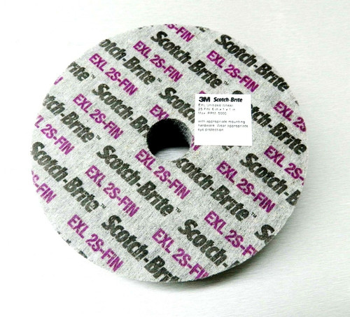 "3M Scotch-Brite EXL 2S-FIN Unitized Wheels 6x1x1"" Deburring Surface Conditioning"