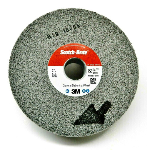 3M Deburring Wheel General Purpose Wheel 6x1x1 9S-FIN # 64900 Cleaning Finishing