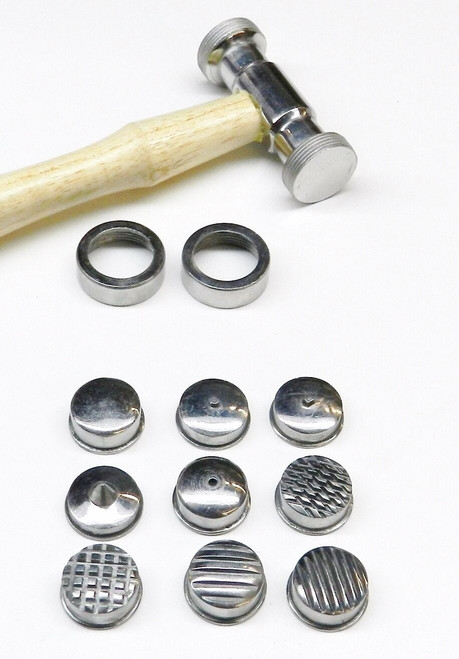 Texturing Hammer with 9 Interchangeable Heads Metal Work Tool Set