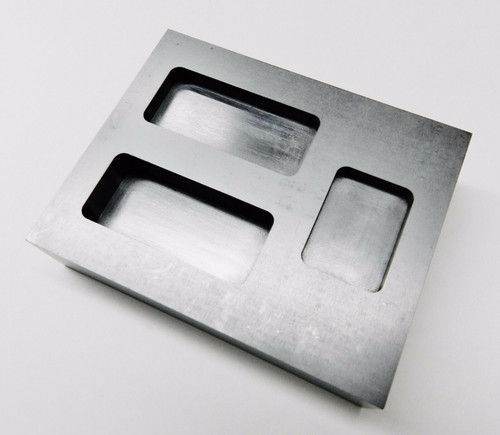 Graphite Ingot Mold 2oz 4oz 6oz Combo 3 Size Bars Gold Scrap Melting Refining