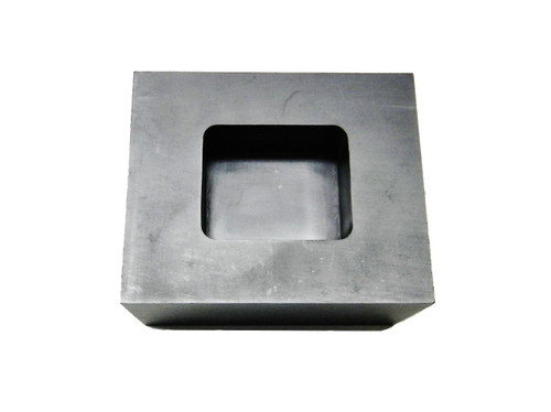 Graphite Ingot Mold 5oz Gold Melt Pour Loaf Bar Machined Graphite Jewelry Scrap