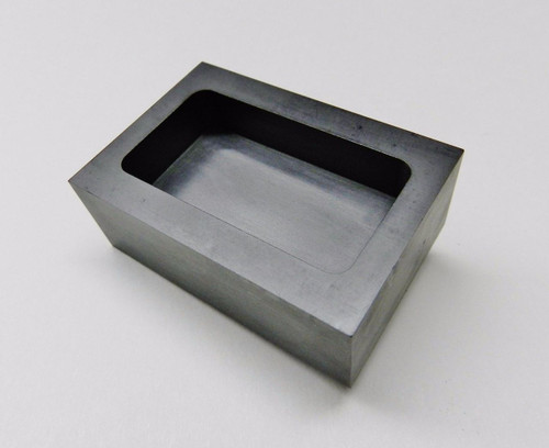 5 oz Graphite Ingot Mold Machined For Gold Silver Bars Melting Refining Smelting