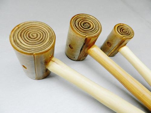 3 Rawhide Mallets Large Set Hammer Wood Leather Metal Work #4 #5 #6 Garland USA