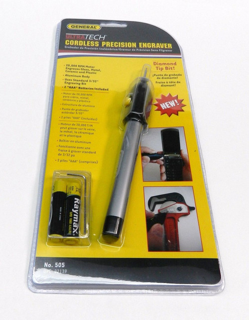 Cordless Precision Engraver Diamond Tip Scribe Battery Operated General Tool 505