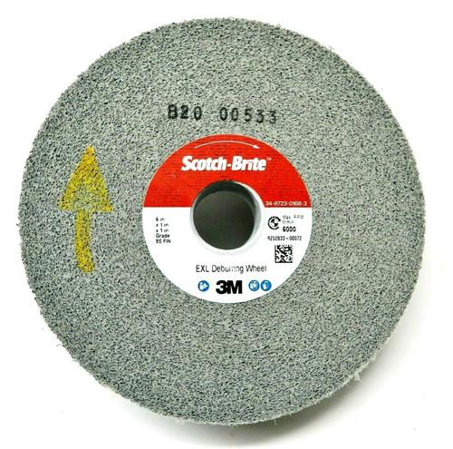 "3M Scotch-Brite EXL Deburring Wheel 6 x1 x1"" 9S FIN Surface Finishing 3M # 05132"