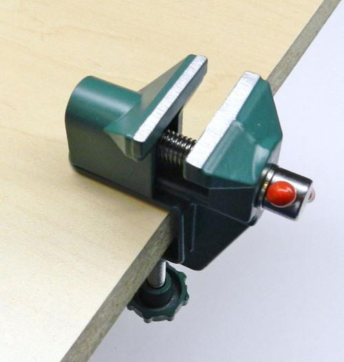 "Mini Vise Bench Tool Swivel Lock Clamp 1-1/2"" Vise Miniature Made of Aluminum"