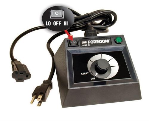 Foredom C.EMF-1 Dual Speed Range Table Top Control For Series SR Flexshaft Motor