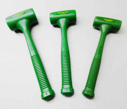 Dead Blow Hammers Garland Standard Head Set of 3 Polyurethane Mallet