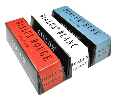 Dialux Rouge Jewelers Rouge Polishing Compound Red White & Blue for Gold Silver