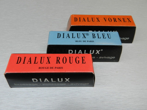 Jewelers Rouge Polishing Compound Cut & Polish ARMO Gold Dialux Red Blue Orange