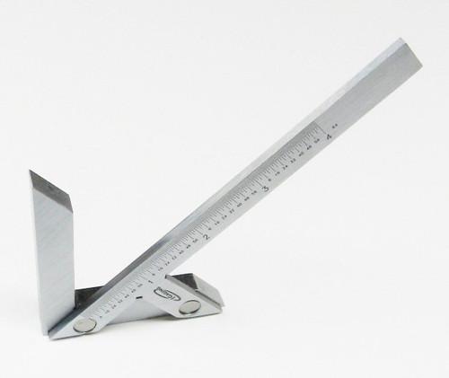 "Centering Square 4"" iGaging Center Gauge Round Bar Center Finder Precision S.S."
