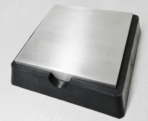 "4"" Steel and Rubber Block Double Sided"