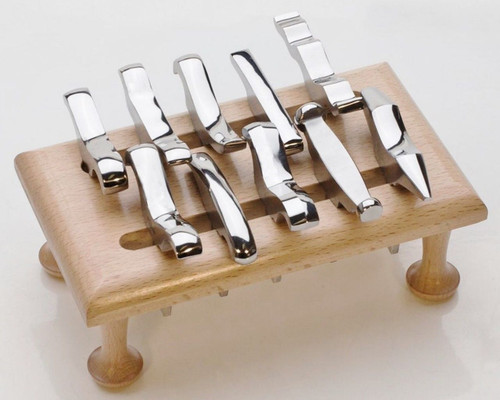 12-Piece Mini Stake Forming Tool Set with Stand & Holder for Jewelry Silversmith
