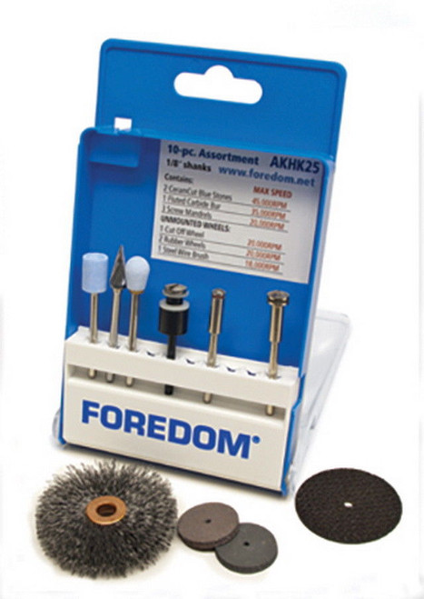Foredom AKHK25 General/Industrial Use Assortment Kit, 10-Pc