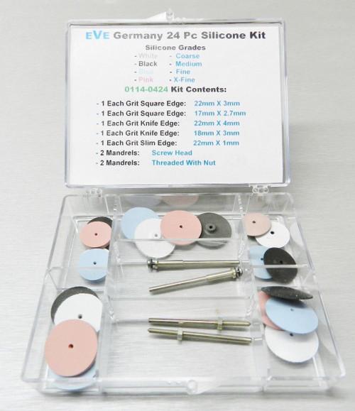 Silicone Polishing Wheel Kit 24 Assortment Set Jewelry Abrasive Finish