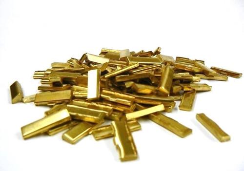 Cartridge Brass Alloy Bits Yellow Casting Alloy 70/30 Alloying Melting 1Lb