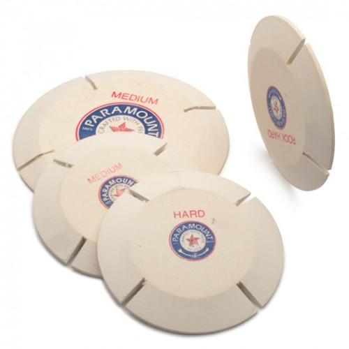 "Paramount 4"" Hole Pin  Split Lap Polishing Felt Wheel"