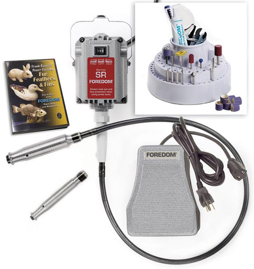 Foredom K.5200 Deluxe Woodcarving Kit, with 2 Hand pieces, 230 Volt