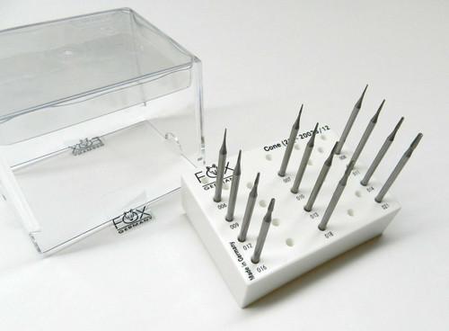 Cone Burs Set 0.6mm to 2.1mm Jewelry Making Burs