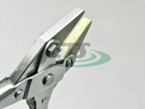 Brass Jaw Parallel Flat Nose Pliers 125mm Non Marring Jaws for Jewelry Crafts