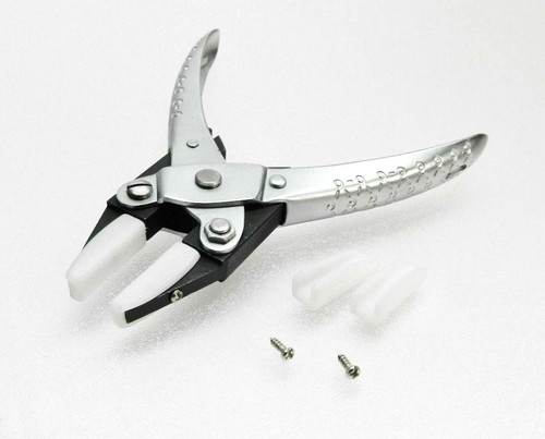 Parallel Action Plier Nylon Jaws Pliers Flat Nose Non Marring for Jewelry Crafts