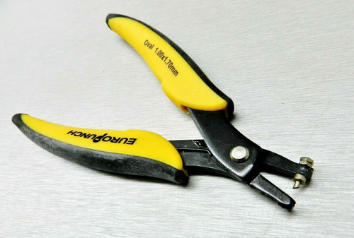 Eurotool EuroPunch Plier 1x1.7mm Oval Hole Punch Pliers Soft Sheet Metal Punch