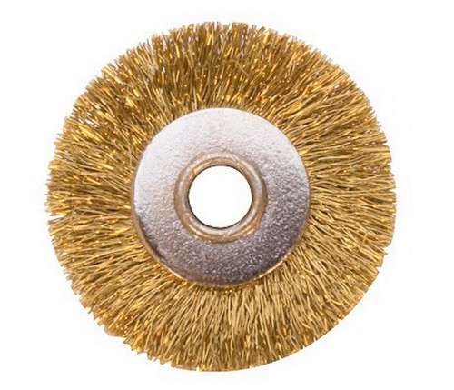 "1"" Unmounted Brass Brush Crimped 1/8"" Hole"