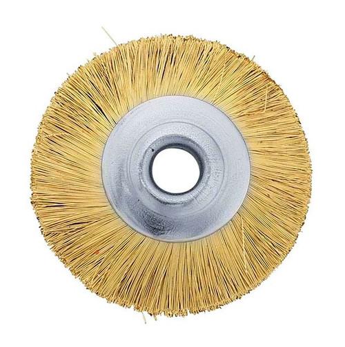 "1"" Unmounted Brass Brush Straight 3/32"" Hole"