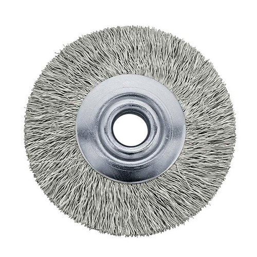 "3/4"" Unmounted Steel Brush Crimped 1/8"" Hole"