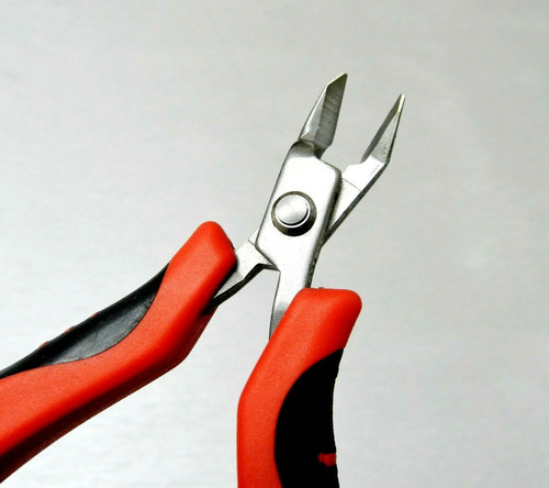Mini Ergonomic Cutter Snip Nose Palm Held Pliers Flush Cut with Spring