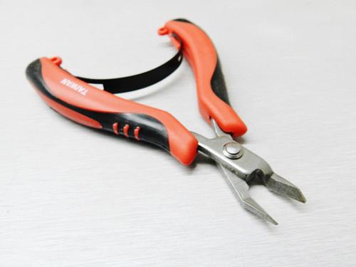 Mini Ergonomic Cutter Snip Nose Palm Held Pliers Flush Cut with Spring