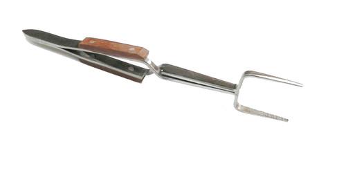 Square Tip Cross Locking Fiber Grip Tweezers