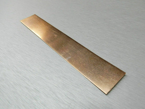 "Krohn Copper Anode Pure 1"" x 6"" Jewelry Plating for Electroplating Metals"