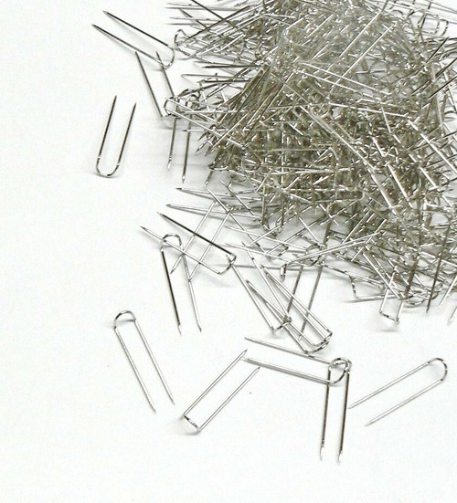 100 Jewelry U-Pins Display Pads Pins Silver Tone Jewelry Display 100pcs U Pins