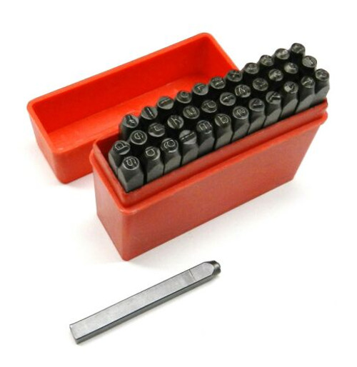 Marking Stamps Lower Case 1.5mm Alphabet & Numbers 36pc Set Jewelry Hand Punches
