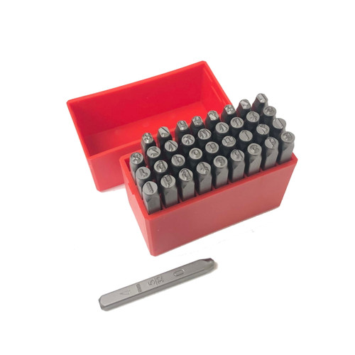 Metal Marking Stamps Alphabet & Numbers Hand Punches 4mm Lower Case 36 Pc Set