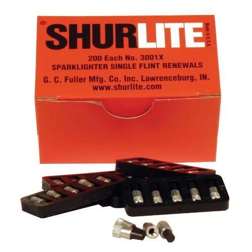 Shurlite Spark Lighter Replacement Flints Per pack of 200