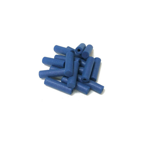 """Pacific Abrasives Cylinder Polisher 7/8"""" Blue Coarse Silicone Pack of 10 Made in Italy"""